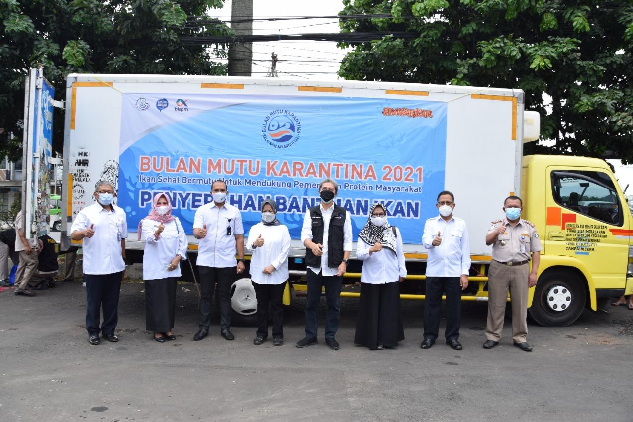 Dirut Perumda PPJ Dampingi Wakil Wali Kota Bogor, menerima Penyerahan 5 Ton Ikan Dari KKP & BKIPM Untuk Warga Isoman