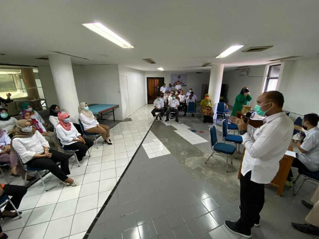 Perkuat Kekebalan Tubuh, Pegawai Perumda PPJ di Suntik Vaksin Influenza
