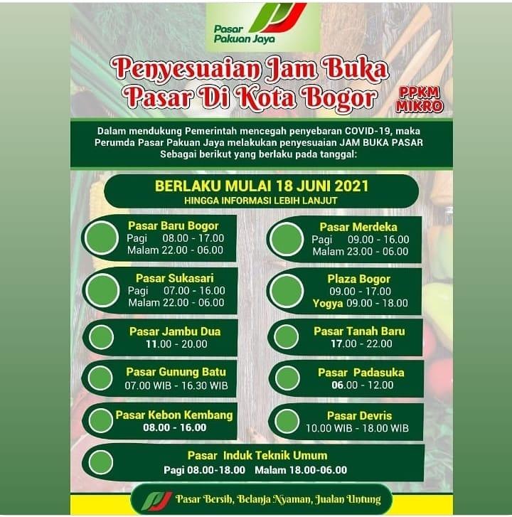 Perumda Pasar Pakuan Jaya Ikut Andil Pencegahan Covid 19 Di Kota Bogor